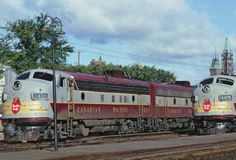CP resting at Ottawa in june 1965 Ottawa Valley, Canadian Pacific Railway, Electric Train, Rolling Stock, Diesel Locomotive, Photo Archive, Track, Mid Century, Canada