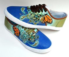 Hand painted shoes by Melissa