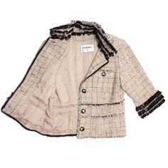 TEMP: Chanel Gold Ivory Silver Black Lace Jacket