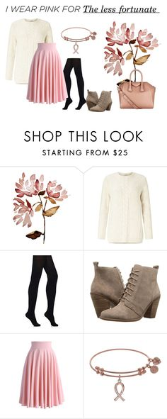 """""""I wear pink for the less fortunate (4)"""" by glacya ❤ liked on Polyvore featuring Miss Selfridge, Wolford, Jessica Simpson, Chicwish, Givenchy and IWearPinkFor"""