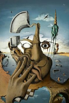 A good unnamed painting by Salvador Dali. Dali is my second fave artist. L'art Salvador Dali, Salvador Dali Paintings, Illusion Kunst, Street Art, Wow Art, Fine Art, Art Design, Design 24, Art Plastique