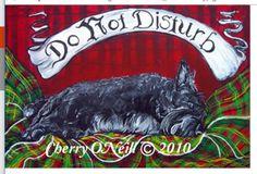 Scottish-Terrier-Do-NOT-Disturb-Pillow-CASE-Sleeping-Scottie-Original-Cover