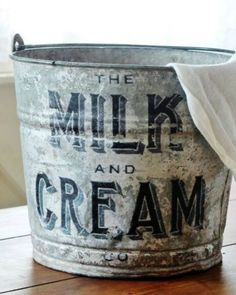 Upcycled Farmhouse Galvanized Bucket