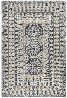 Surya Smithsonian Hand Tufted New Zealand Wool Rug 5 x 8 Rectangle Home Decor Rugs Rugs Wool Area Rugs, Blue Area Rugs, Wool Rug, Blue Rugs, Grey Rugs, Azul Anil, Hand Tufted Rugs, Carpet Runner, Runner Rugs