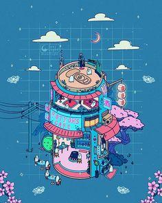 🎶Music: Ghost Choir by Louie Zong fondos videos ✨👻✨👻✨👻✨ 𝚁𝚘𝚗𝚊𝚕𝚍 𝙺𝚞𝚊𝚗𝚐 Arte Do Kawaii, Kawaii Art, Japon Illustration, Cute Illustration, Cartoon Kunst, Cartoon Art, Animes Wallpapers, Cute Wallpapers, Aesthetic Art