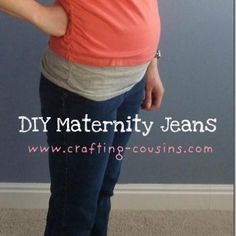 Sew Your Own Maternity Jeans {Pants}