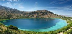 Kournas lake, the only with fresh water in Crete