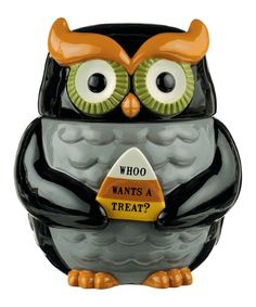 Look at this Owl Cookie Jar on #zulily today!