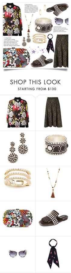 """""""Floral"""" by camry-brynn ❤ liked on Polyvore featuring Marni, Cecilia Pradomurion, Mercedes Salazar, Aaryah, EF Collection, Chan Luu, Santi, Jeffrey Campbell, Rockins and Sydney Evan"""