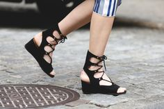 38 Gorgeous Shoes Spotted On The Streets Of New York City #refinery29  http://www.refinery29.com/2015/09/93849/best-fall-shoes-fashion-week-street-style#slide-8  Let your favorite lace-up sandals take you as far into fall as possible.Chloé shoes....