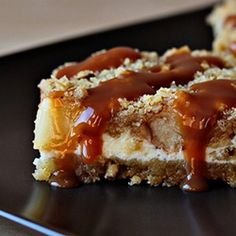 Caramel Apple Cheesecake Cookie Bars. A recipe with step-by-step pictures...