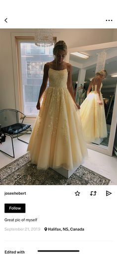 Yellow grad dress - Source by - Pretty Prom Dresses, Hoco Dresses, Sweet 16 Dresses, Quinceanera Dresses, Ball Dresses, Homecoming Dresses, Cute Dresses, Beautiful Dresses, Formal Dresses