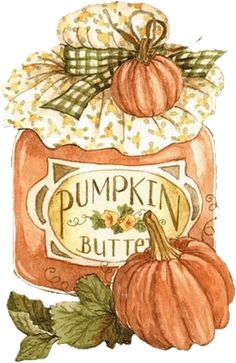 Pumpkin Butter image painted by Diane Knott