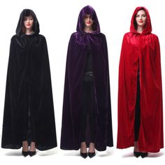 Robe Sequin Cape Colored Halloween Wicca Goddess Witchcraft Witch Cloak Costume
