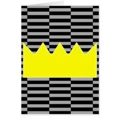 Crown - gray and black strips. card - holiday card diy personalize design template cyo cards idea