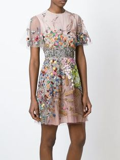 Valentino floral embroidered dress