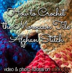 How to #Crochet the Moroccan Tile Afghan :: a photo and video tutorial for this amazing stitch! by betty.morrison.39