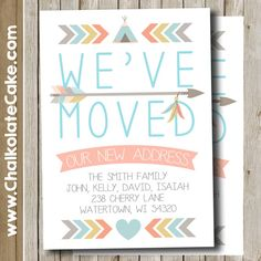 moving announcements we ve moved new home new address cards