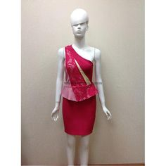 Herve Leger Red Embroidery One Shoulder Sexy Bandage Dress H634LSR