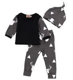>> Click to Buy << 3PCS Newborn Baby Girls Boys Clothes Deer Tops T-shirt+Pants Leggings 3pcs Outfits Set #Affiliate