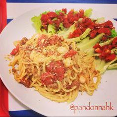 Keep it simple, keep it real. 找回簡單,自然,真實的自己。  #pasta, #tomato, #lunch, #rice,  #igfood, #igpic, #iglike, #instapic, #instafood, #clipcrop #instadaily, #food, #foodie, #foodporn, #foodstagram, #hkig, #nom, #yummy, #義大利麵, #料理, #好吃, #相機食先, #美味しい、#手作ぃ, #夕食