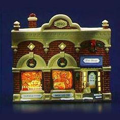 """Department 56: Products - """"Village Vet And Pet Shop"""" - View Lighted Buildings"""