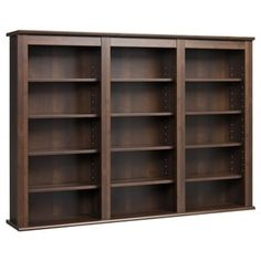 Everett Espresso Wall -hanging Media Storage Cabinet | Overstock.com Shopping - The Best Deals on Media/Bookshelves