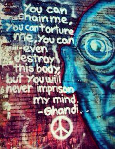 Urban, Urbanart, StreetArt, Art, Graffiti. Ghandi quote