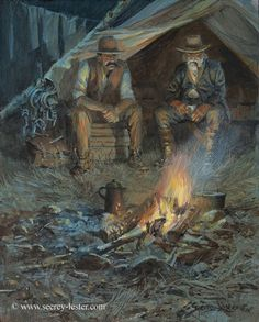 TRAPPERS CAMP    Not Just Wildlife Art of John & Suzie Seerey-Lester