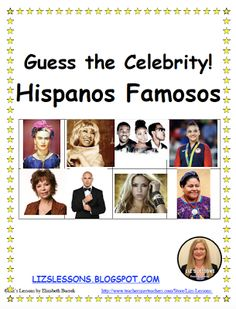 """""""Play this fun cultural speaking game, and memory game in your beginner and intermediate level Spanish classes, for Hispanic Heritage Month, or any time of the year! High School Spanish, Ap Spanish, Spanish Class, How To Speak Spanish, Learning Spanish, Spanish Lesson Plans, Spanish Lessons, Famous Hispanics, Speaking Games"""