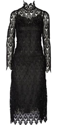 black lace & tulle midi dress <3