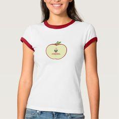 Red Apple Half I Love Preschool T Shirt, Hoodie Sweatshirt