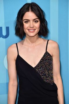 Lucy Hale's close-up at 2017 CW Upfront Presentation in New York