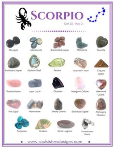 Crystals for Scorpio's