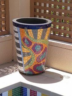 mosaic garden planters | the garden's end: Mosaic Pots
