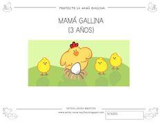 En esta entrada les dejo las fichas del PROYECTO MAMÁ GALLINA que he preparado. Están para los 3 niveles de infantil. Espero que las puedan...