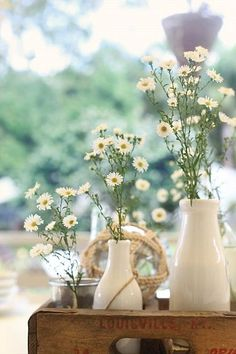 I like the idea of splitting a bouquet between smaller vases on a table or tray.