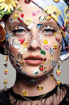 Emoji Girl Emoticon Beauty Editorial with Model Emily Steel/ ♥ Lovely~Madorie Darling™♥