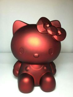 Ruby red metallic kitty