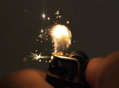 A lighter spawns a small universe when you flick it