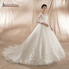 New Model 2018 Ball Gown Wedding Dress Factory Direct Sale High Quality