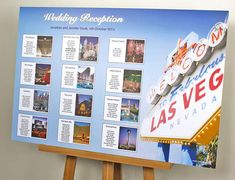 Las Vegas Themed Wedding Table Plans