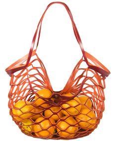 YOKO VOLKER LANG Ledernetz Einkaufsnetz Design net leather
