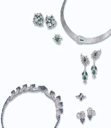 A GROUP OF DIAMOND AND GEM-SET JEWELLERY
