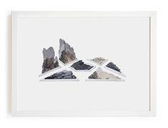 Claire Trotignon Private place #1  Dessin, collages gravures 35 x 45cm 2014 Collection privée
