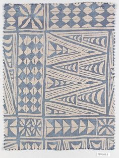 MELILLA Manufacturer: Fortuny (Italian, founded Medium: Cotton Dimensions: L. 9 inches x cm.) Classification: Textiles-Printed Credit Line: Gift of Countess Elsie Lee Gozzi, President and Owner of Fortuny, Inc. Motifs Textiles, Textile Prints, Textile Patterns, Textile Design, Fabric Design, Geometric Patterns, Color Patterns, Print Patterns, Floral Patterns