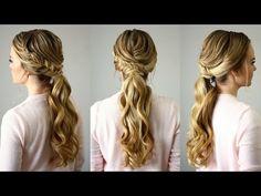 Fishtail Embellished Ponytail | Missy Sue - YouTube
