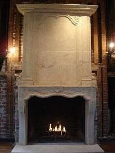 Limestone fireplace mantel & overmantel of JB and M's home ...
