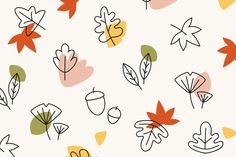 Colorful leaves on a cream wallpaper vector free image by Autumn Illustration, Graphic Design Illustration, Vector Pattern, Pattern Design, Autumn Leaves Wallpaper, Banners, Cream Wallpaper, Fall Images, Fall Patterns