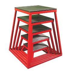 "Plyometric Platform Box Set- 6"", 12"", 18"", 24"", 30"" Red, (crossfit, plyometrics, jumping trainers, exercise, training equipment, plyometric, vertical jump, ader sporting goods, basketball training, football training)"